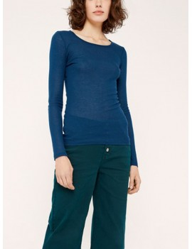 acoté - t shirt - tshirt basic winter 18 bleu