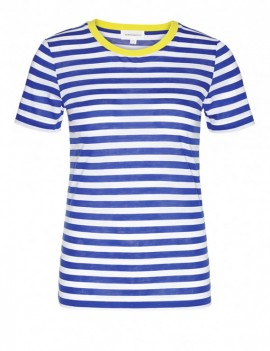 lida bold stripes navy - t-shirt - armedangels