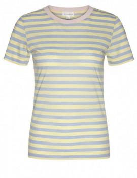 lida bold stripes vanilla - t-shirt - armedangels