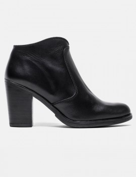 bottines en cuir noir - Nora
