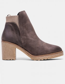 bottines en cuir marron - Sara
