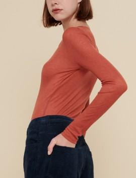 acoté - tshirt - basic orange