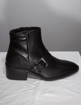 bottines en cuir noir - Luz