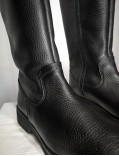 bottes en cuir noir - Amada