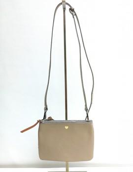 Nina taupe - sac à main en cuir