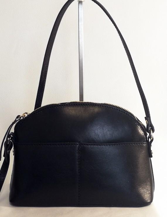 Camélia - sac en cuir noir
