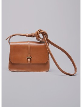 Acoté - Mini sac en cuir FABIAN camel