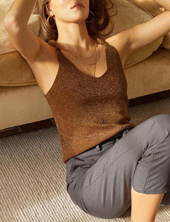 Garance - Pantalon gris droit Granite