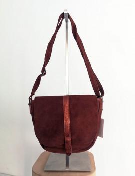 Amélia marron - sac en cuir retourné