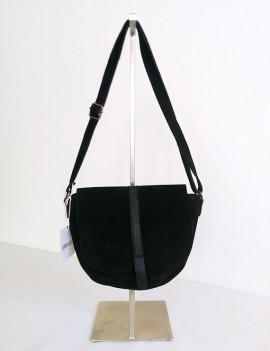 Amélia noir - sac en cuir retourné