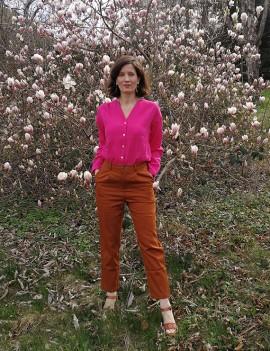 Garance - Pantalon droit brique Griffon
