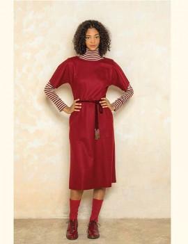 niu -robe rouge Massai en laine feutréeAyana