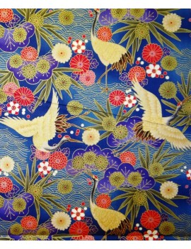 Japanese floral in blue