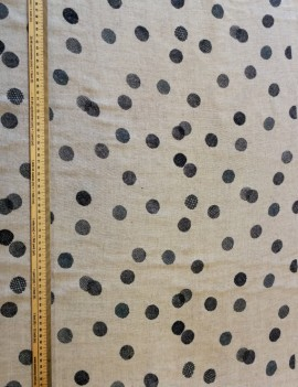 dots blue on natural - kokka