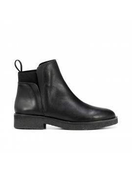 bottines en cuir noir - Celia