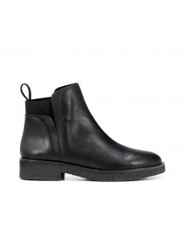 bottines en cuir noir - Celia