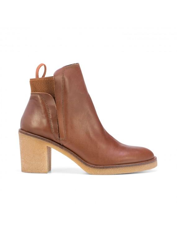 bottines en cuir marron - Estela