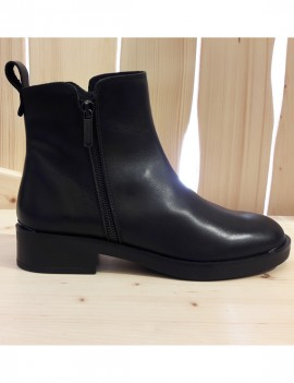 bottines en cuir noir - Adela
