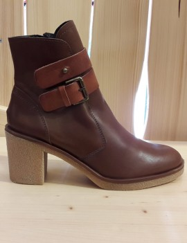 bottines en cuir marron - Dulce